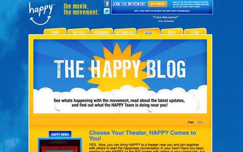 Screenshot of Blog thehappymovie.com - Blog - The Happy Movie The Happy Movie - captured Oct. 27, 2014