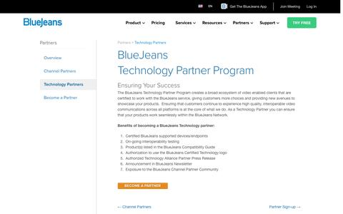 Technology Partners | BlueJeans - Business Video Communications