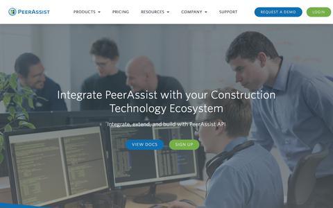 Screenshot of Developers Page peerassist.com - PeerAssist API - PeerAssist - captured Aug. 21, 2019