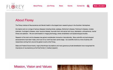 About Florey | The Florey - Institute of Neuroscience and Mental Health