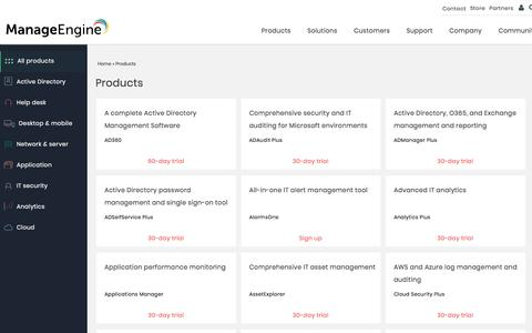 ManageEngine - IT Management & Monitoring Products
