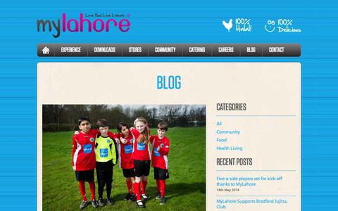 Screenshot of Blog mylahore.co.uk - lahore - captured Sept. 30, 2014