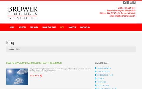 Screenshot of Blog tintandgraphics.com - Blog | Brower Tinting & Graphics - WA - captured Oct. 11, 2017