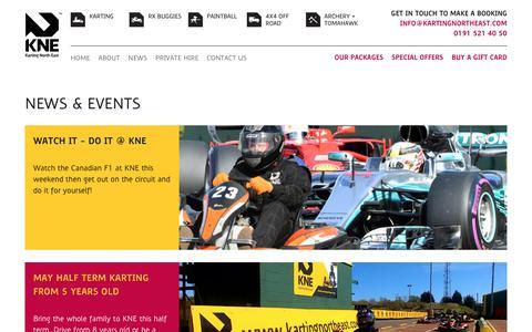 Screenshot of Press Page kartingnortheast.com - Latest News and offers   Karting North East - captured June 9, 2017