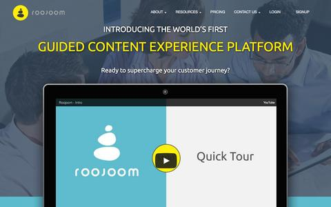 Roojoom - guided content experience platform -