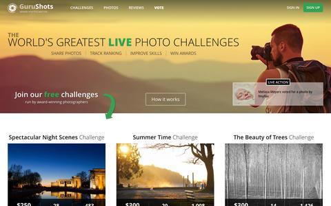 Screenshot of Pricing Page gurushots.com - GuruShots.com | Live Photo Challenges - captured Oct. 3, 2014