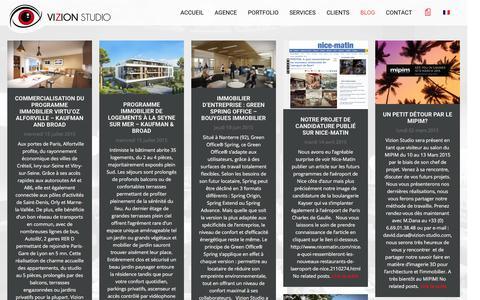 Screenshot of Blog vizion-studio.com - Blog de l'agence | Vizion Studio - captured Feb. 7, 2016