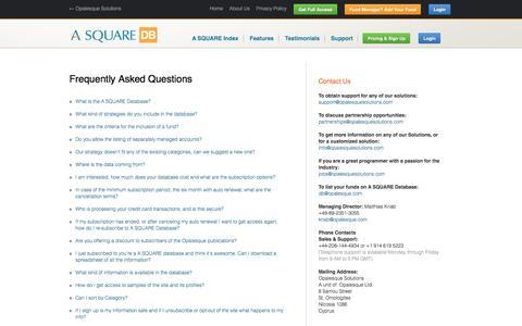 Screenshot of FAQ Page alternative-alternatives.info - F.A.Q's - Alternative Alternatives Database - captured May 25, 2016