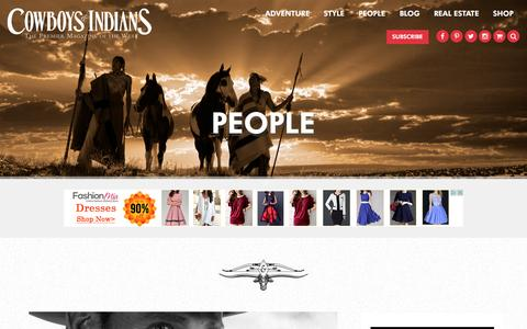 Screenshot of Team Page cowboysindians.com - People Archives - Cowboys and Indians Magazine - captured Jan. 30, 2016