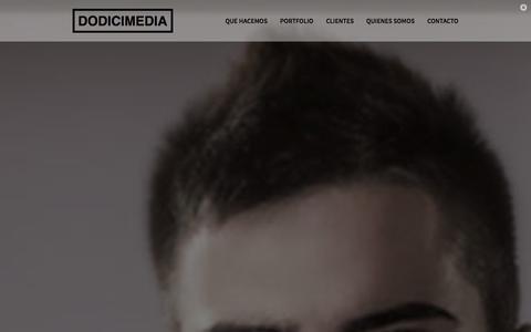 Screenshot of Home Page dodicimedia.com - Bienvenido  - DodiciMedia - captured Oct. 7, 2014
