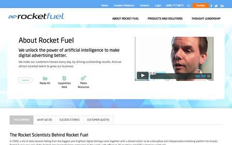 Screenshot of About Page rocketfuel.com - About Rocket Fuel | Rocket Fuel Inc. - captured Sept. 17, 2014