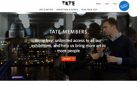 Screenshot of Support Page tate.org.uk - Join Support - Become a Member | Tate - captured Aug. 21, 2016
