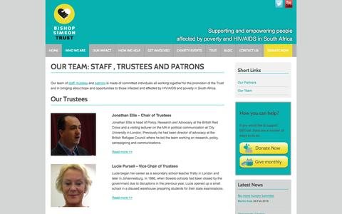 Screenshot of Team Page bstrust.org - Patrons trustees employees - captured June 7, 2016