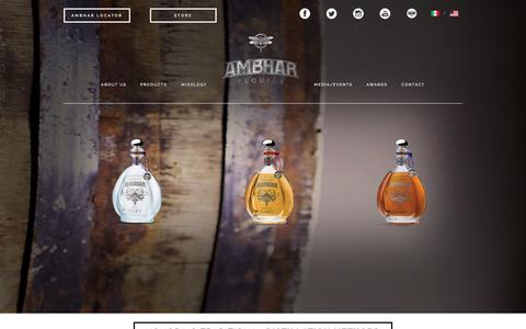 Screenshot of Products Page ambhar.com - Ambhar Tequila Products - captured Oct. 4, 2014