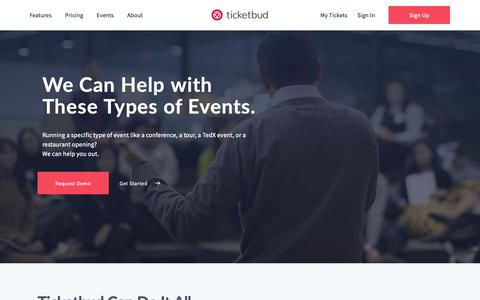 Screenshot of Services Page ticketbud.com - Services Archive - Ticketbud - captured Dec. 7, 2018