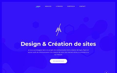 Screenshot of Home Page nicolasmanfredini.com - Nicolas Manfredini Freelance | Design & Création de Sites Web - captured Oct. 21, 2018