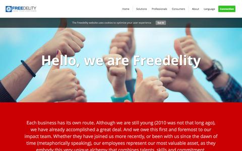 Screenshot of Team Page freedelity.be - The team behind Freedelity - Freedelity CRM - captured Feb. 10, 2016