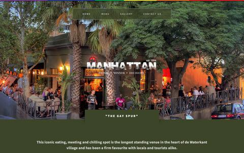 Screenshot of Home Page manhattan.co.za - Cafe Manhattan - One of the oldest Gay bar's in Cape Town - captured July 3, 2018