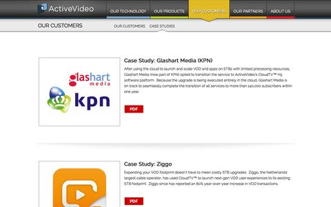 Screenshot of Case Studies Page activevideo.com - Case Studies - ActiveVideo® - captured Sept. 30, 2014