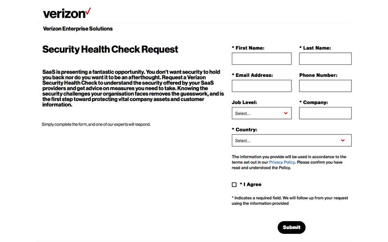 Security Health Check Request