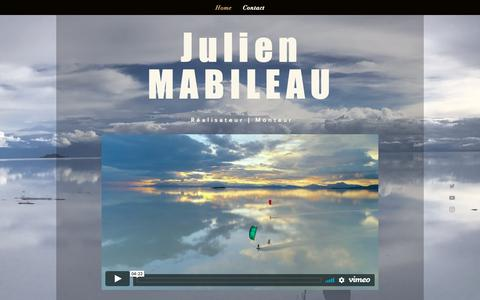 Screenshot of Home Page julienmabileau.com - monsite - captured Nov. 6, 2018