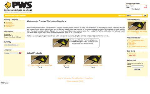 Screenshot of Home Page proventivesolutions.com.au - PWS Online - captured Sept. 30, 2014