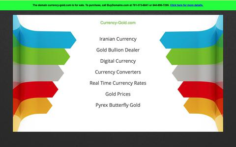 Screenshot of Home Page currency-gold.com - Currency-gold.com Is For Sale - captured Nov. 16, 2018