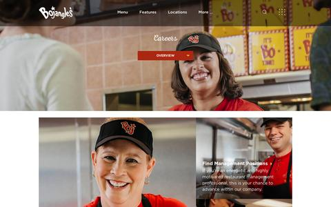 Screenshot of Jobs Page bojangles.com - Careers - Bojangles' Famous Chicken 'n BiscuitsBojangles' Famous Chicken 'n Biscuits - captured July 23, 2016