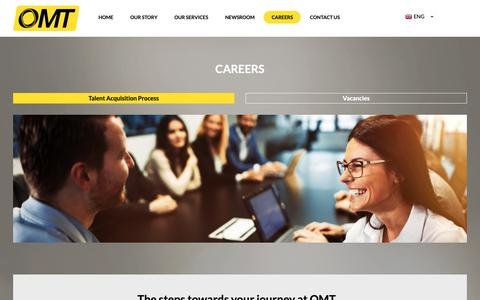 Screenshot of Jobs Page omt.com.lb - OMT - Financial & Governmental Services | Recruitment - captured Oct. 19, 2018