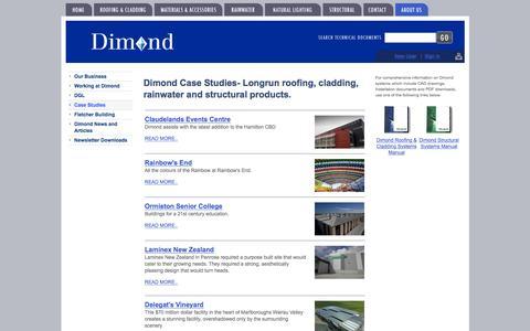 Screenshot of Case Studies Page dimond.co.nz - Case Studies  -  About Us - Dimond - captured April 15, 2016