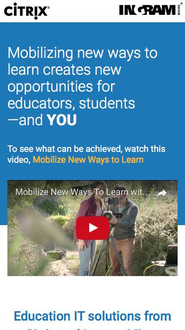 Ingram Micro | Citrix Education IT solutions