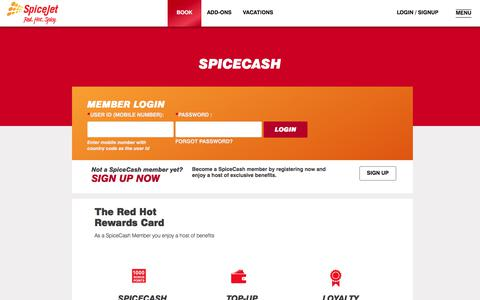 Screenshot of Login Page spicejet.com - Cheap Air Tickets Online, International Flights to India, Cheap International Flight Deals | SpiceJet Airlines - captured June 20, 2017
