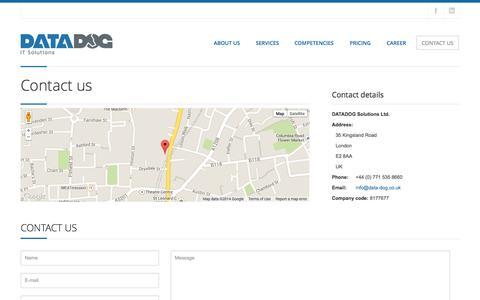 Screenshot of Contact Page data-dog.co.uk - Contact us | DATA DOG - captured Sept. 30, 2014
