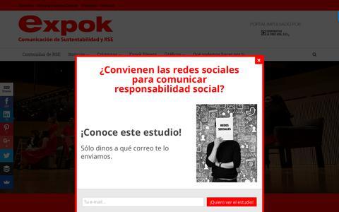 Screenshot of Home Page expoknews.com - ExpokNews – Comunicación de RSE y sustentabilidad - captured June 22, 2017