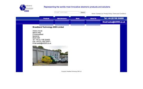 Screenshot of Contact Page bt2000.co.uk - Contact Us - Broadband Technology - captured Oct. 5, 2014