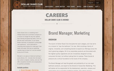 Screenshot of Jobs Page dollarshaveclub.com - Join the Team | Dollar Shave Club - captured Sept. 15, 2014