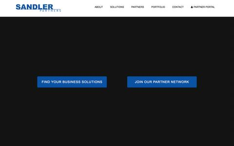 Screenshot of Home Page sandlerpartners.com - Sandler Partners: Telecom and Cloud Master Agency | America's Fastest Growing Distributor of Connectivity and Cloud Services - captured May 20, 2016