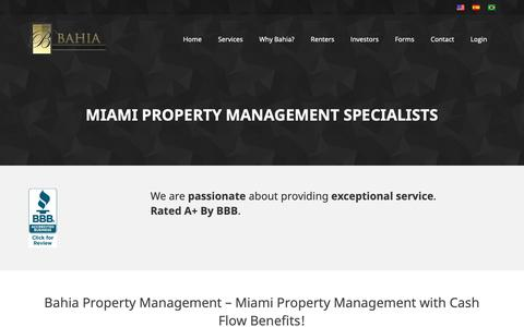 Screenshot of About Page miami-propertymanagement.com - Residential Property Management Company in Miami - captured Oct. 31, 2018