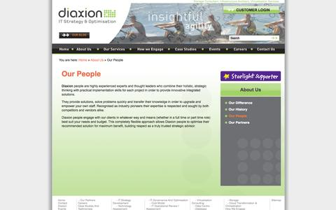 Screenshot of Team Page diaxion.com - Storage Consultant, Infrastructure Architect, Virtualisation Services - captured Sept. 30, 2014