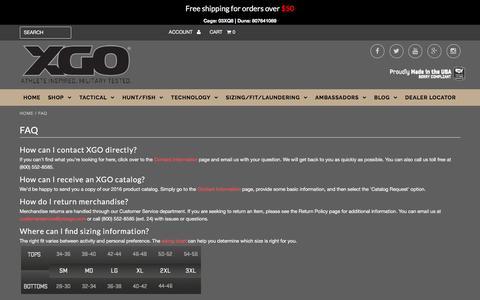 Screenshot of FAQ Page proxgo.com - FAQ – XGO - captured Nov. 18, 2016