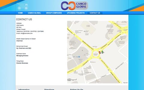 Screenshot of Contact Page Maps & Directions Page camcokw.com - Contact Us - captured Oct. 22, 2014