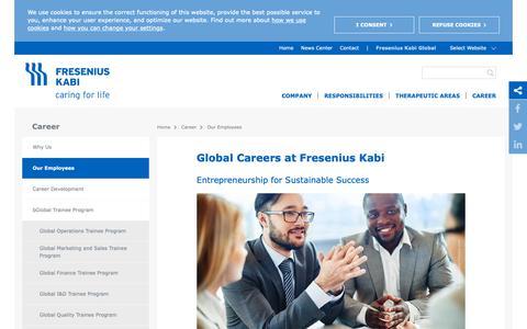 Screenshot of Jobs Page fresenius-kabi.com - Global Careers at Fresenius Kabi - Fresenius Kabi Global - captured April 18, 2019
