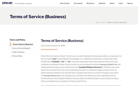 Terms of Service (Business) - Catalant