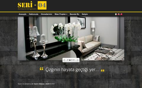 Screenshot of Home Page seri04.com - Seri 04 - Architects & Engineers - captured Oct. 3, 2014