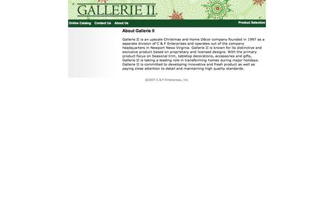 Screenshot of About Page gallerieii.com - Gallerie II - captured Sept. 29, 2014