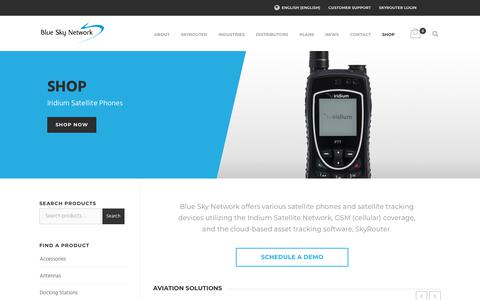 Screenshot of Products Page blueskynetwork.com - Tracking Devices | Satellite Phones | Blue Sky Network - captured July 13, 2018