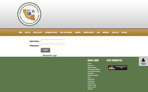 Screenshot of Login Page cawa.org - User Log In - captured May 11, 2017
