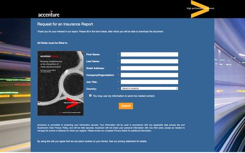 Screenshot of Landing Page accenture.com - Boosting Competitiveness at the Intersection of Claims and Procurement - captured Oct. 29, 2016