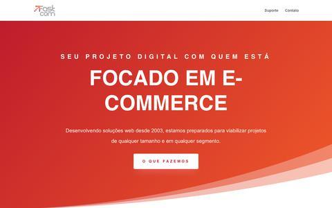 Screenshot of Home Page fastcom.com.br - Home - FastCom - captured Jan. 27, 2020