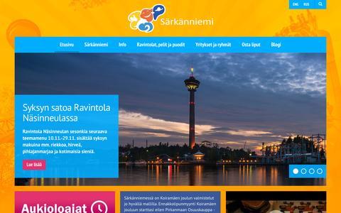 Screenshot of Home Page sarkanniemi.fi - Särkänniemi - captured Nov. 12, 2015